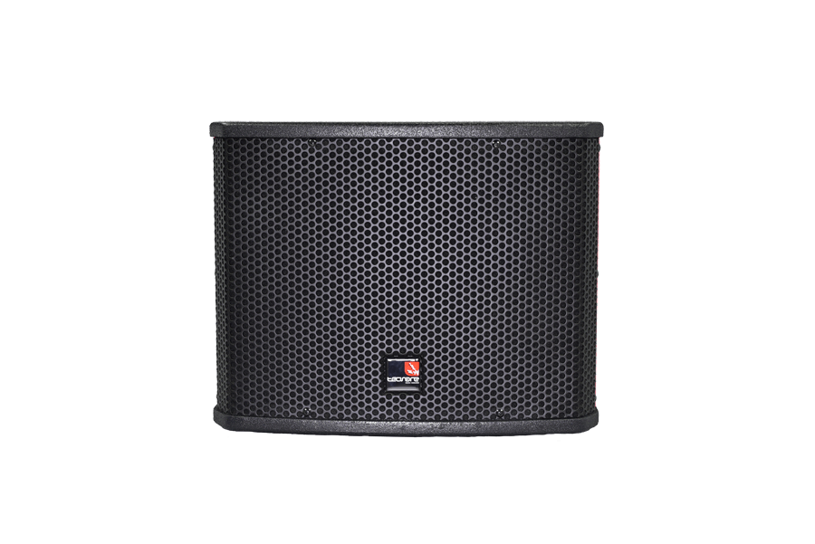 Tecnare ESW110 Mini Subwoofer, front perspective