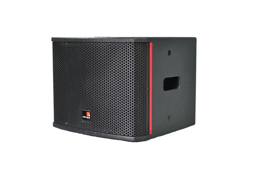 Tecnare ESW110 Mini Subwoofer, left perspective