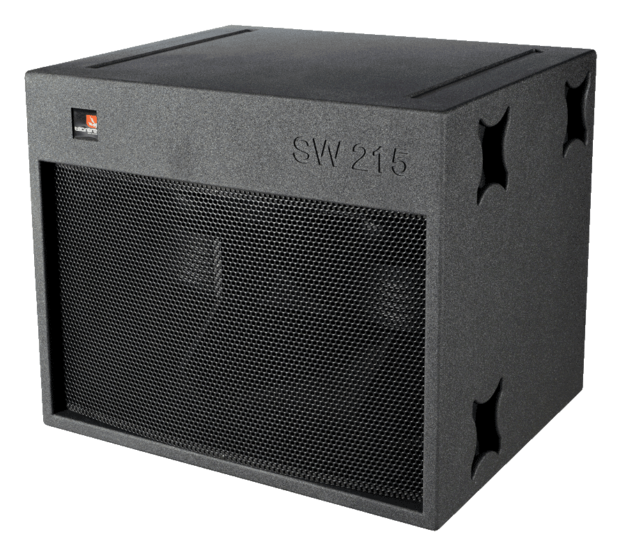 Tecnare SW215 Subwoofer left view