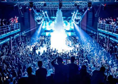 Area 42 Disco, Toledo, Spain, steve aoki performance, full of people
